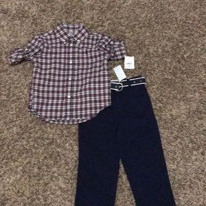 Ralph Lauren dress shirt and slacks